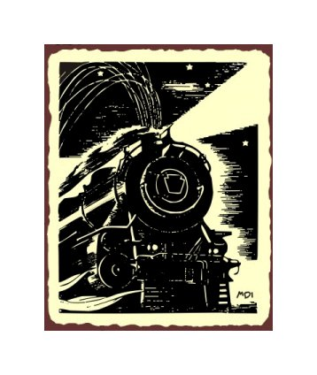 Train Engine - Metal Art Sign