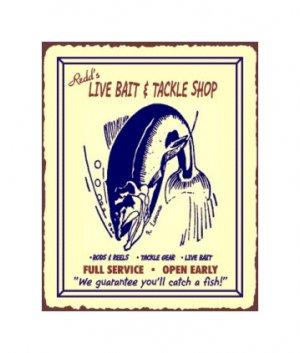 Redd's Live Bait and Tackle Shop - Metal Art Sign