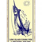 Long Island Fishing Pier, E. Northport New York - Metal Art Sign