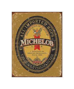 Michelob Beer Logo - Tin Sign