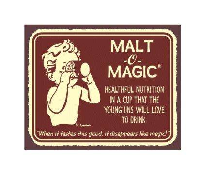 Malt O Magic - Metal Art Sign