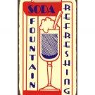 Soda Fountain Refreshing - Metal Art Sign