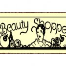 Beauty Shoppe Metal Art Sign
