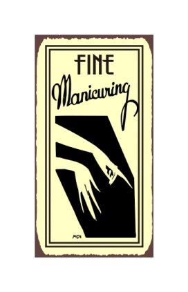 Fine Manicuring Metal Art Sign