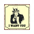Uncle Sam - I Want You - Metal Art Sign