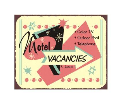 Motel Vacancies - Metal Art Sign