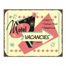 Motel Vacancies - Metal Art Sign