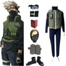 Naruto Hatake Kakashi Deluxe Men's Cosplay Costume and Accessories Set