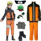 Naruto Shippuden Uzumaki Men's Cosplay Costume and Accessories Set