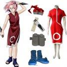 """""""Naruto Sakura Haruno Women's Cosplay Costume and Accessories Set"""