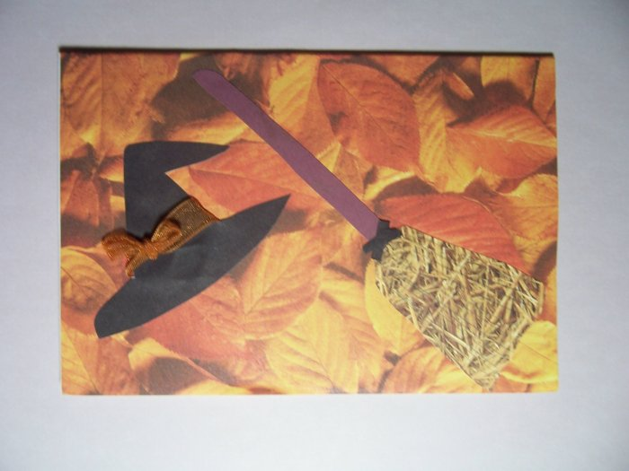 Witch hat and broom - FREE shipping!