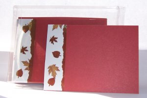 Fall Leaves Flat Card set-FREE Shipping!