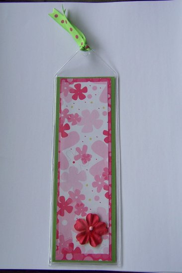 Pink Floral Bookmark- FREE Shipping!