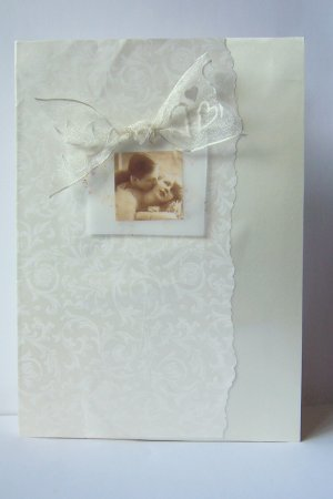 Ivory Wedding Card - FREE shipping!