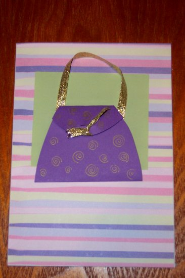 Fashion Purse Card with Stickers