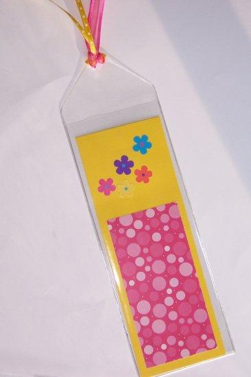Hot Pink & Bright Yellow Bookmark
