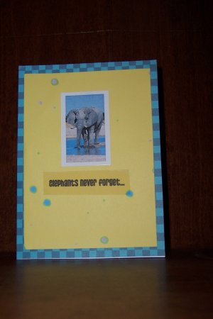 Elephants Never Forget Belated Birthday Card