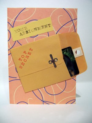 Top Secret Birthday Assignment w/ Gift Card Holder