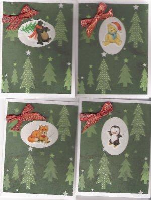 Woodland & Polar Creature Christmas Cards - set of 12 - FREE shipping!