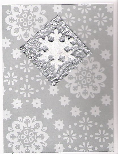 Silver Snowflakes Christmas Cards - set of 10 - FREE shipping!
