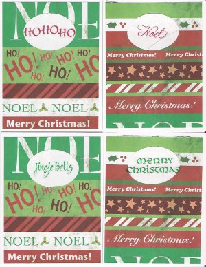 Holiday Sentiments Christmas Cards - set of 12 - FREE shipping!