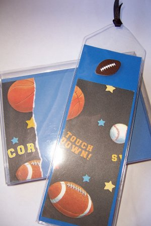 Blue Sports Notecard/Bookmark Set - FREE Shipping!