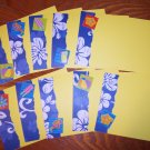Yellow Blue Hibiscus Notecard Set -FREE Shipping