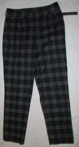 NWT 2 B RYCH Fall Classic Plaid Wool Pants 8 $230 NEW