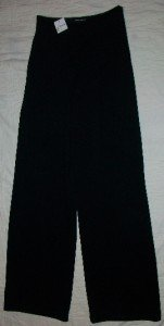 NEW CHARLES CHANG-LIMA Wide & Sleek Knit Pants 4 $450