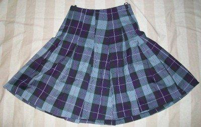NEW CHRISTOPHER DEANE Purple Plaid Pleated Skirt M $195