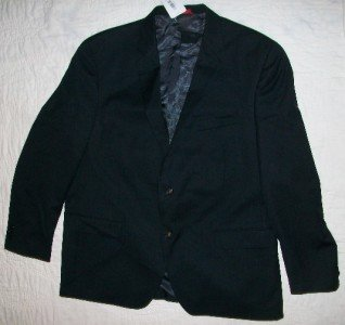 NWT Alfani Black 100% Wool Blazer Jacket 48 R $325 NEW