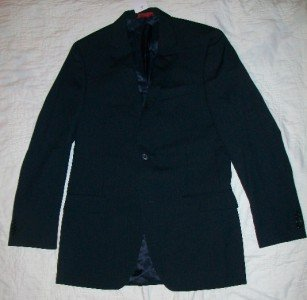 NWT Alfani Blue Stripe Wool Sports Coat Blazer 38L NEW