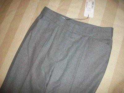 NWT RENE LEZARD Wool Tweed Trouser Pants 34 2 $495 NEW