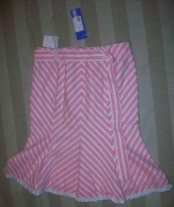 NWT HOLLYWOULD Italy Peppermint Flip Skirt 38 4$375 NEW