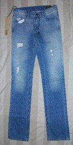 NWT KSUBI Mac Straight Leg Beater Nik Jeans 24 26.5$259