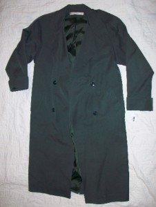 NEW Larry Levine Green Trenchcoat Dress Jacket 2P $99