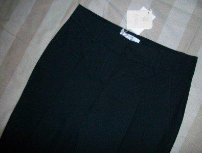 NWT Brunello Cucinelli Black High Waist Crop Pants 2 38