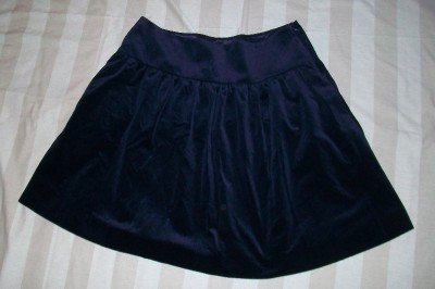 NWT RALPH LAUREN Black Label Velvet Ruched Skirt 14$598