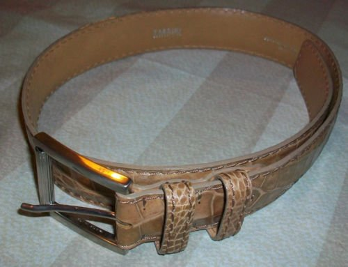NEW Tardini Light Brown Crocodile Leather Belt 26 $475