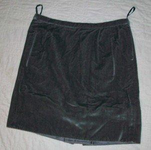 NWT MARC JACOBS Gray Silk Lined Velvet Skirt 4 $685 NEW