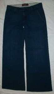 Raven Denim Dark Wide Leg Jeans 26 x 30 EXC