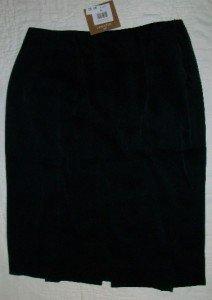 Elliot Lauren Black Thin Soft Velvet Skirt 4 NEW $195