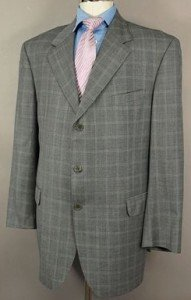 NEW Zaharoff Basileia Cashmere 3 Button Suit 46 L $2195