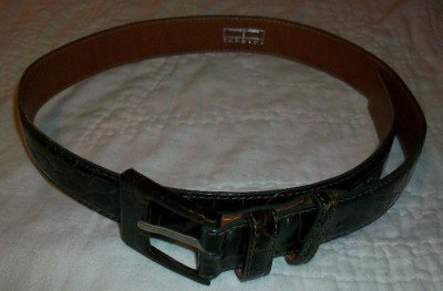 Tardini Italy 100% Alligator Leather Belt 28 NEW $595
