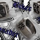 CRUSADER BIKER MALTESE KING SOLID SILVER RING SZ 11.75