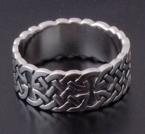 Sterling Silver Biker Celtic Design Cross Ring US sz 10