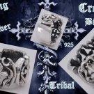 Sterling Silver Cross Biker Tribal Gothic Ring sz12.75