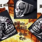 925 SILVER PIRATE SKULL GEM EYE BIKER KING RING 9.75