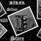 925 SILVER TRIBAL CRUSADER BIKER KING RING US sz 10.75