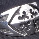 Sterling Silver Gothic Cross Templar Biker Ring sz 12.2